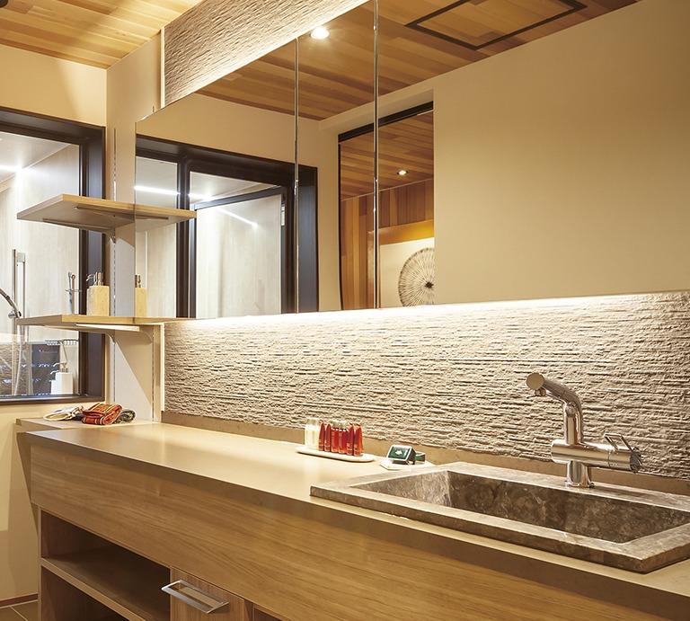 さいたま市で石を使ったデザイン性の高い家