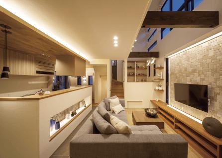 さいたま市で注文住宅・新築一戸建てを手掛ける工務店がイベントに出展した住宅内部