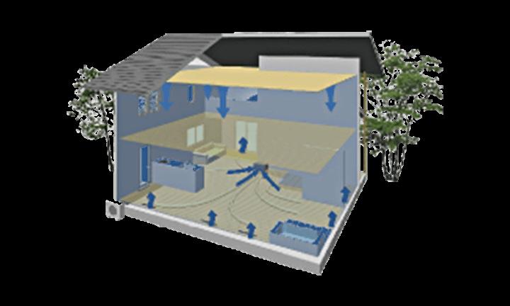床下冷暖房システム エアボレー